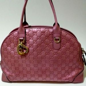 Gucci Heart Bit Guccissima Leather Top Handle Bag